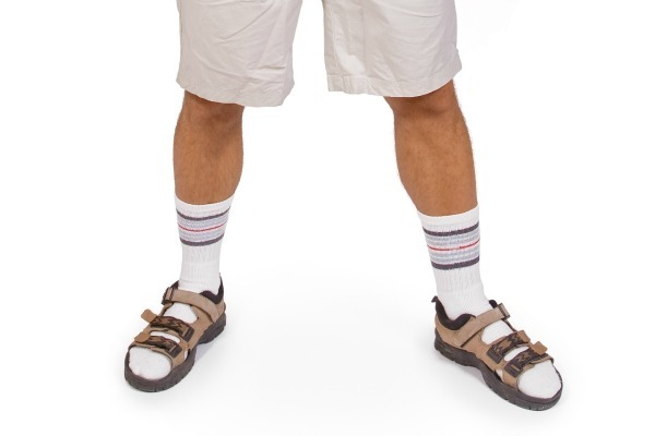 socks and shorts fashion mistake